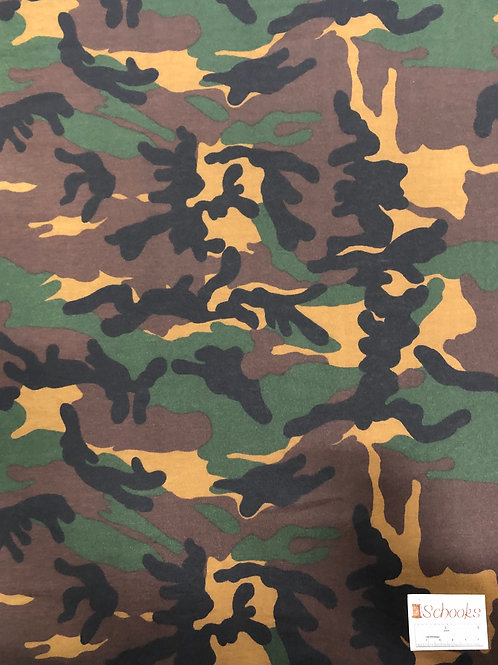 New Cryptic Camo - Poly Spandex Jersey Knit