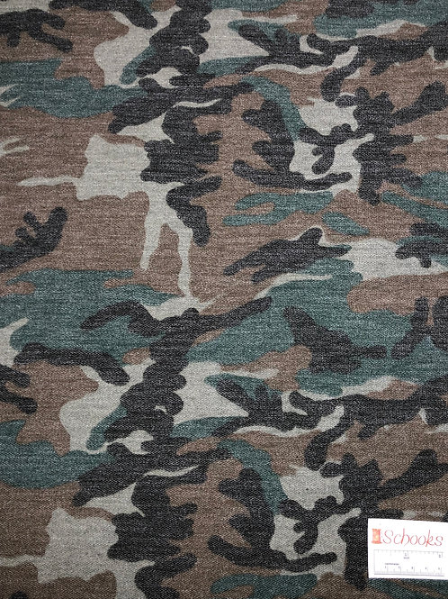 New Old School Army Camo - French Terry