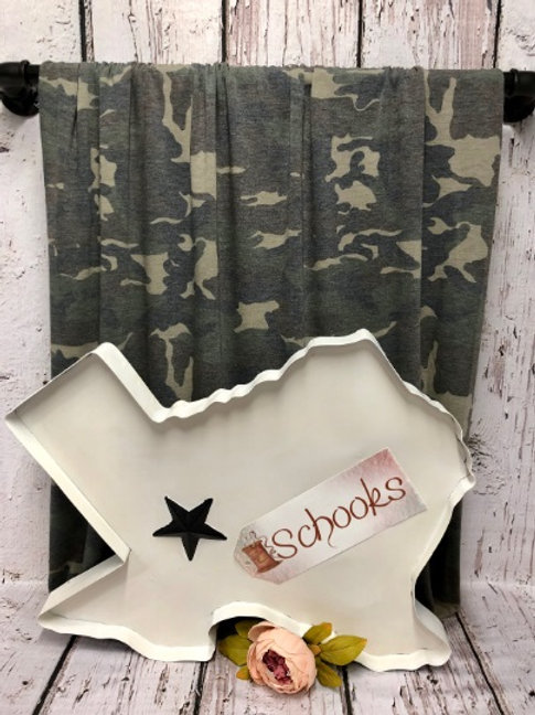 Out of Sight Faded Camo - Poly Rayon Spandex Knit