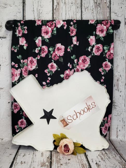 Teresa Rose Black - Rayon Spandex Knit