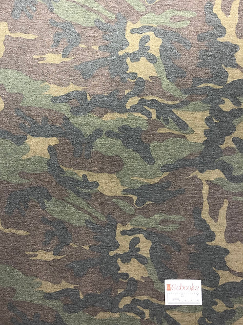 New Cryptic Camo Faded  - Poly Rayon Spandex Knit