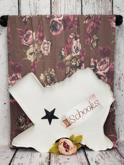 Autumn Rose - Rayon Spandex Jersey Knit Print