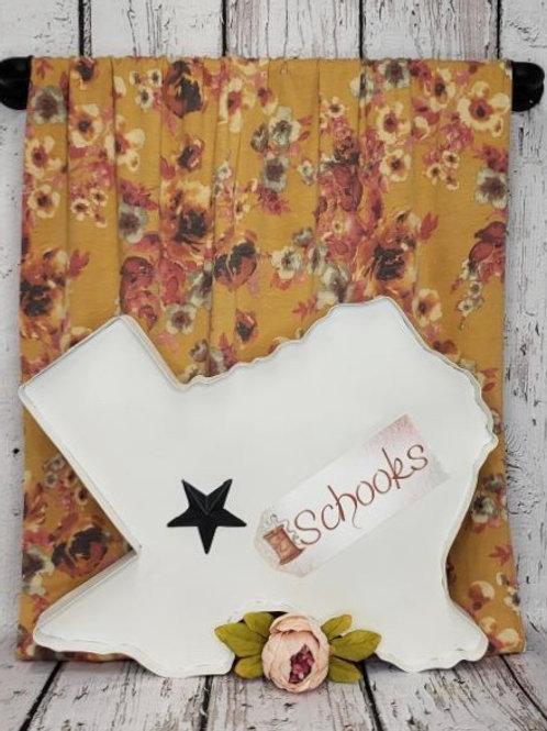 Sweet Mustard Blossom - Poly Rayon Spandex Knit