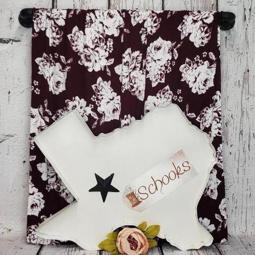 Vivian Rose Burgundy - Rayon Spandex Knit