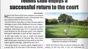 Tennis club enjoys a successful return to the court