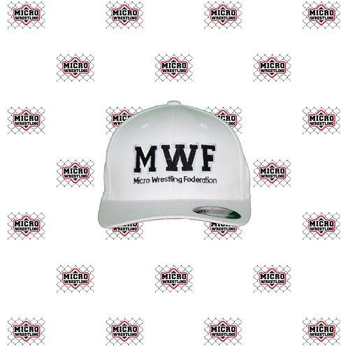 Micro Wrestling White Flex Fit Cap
