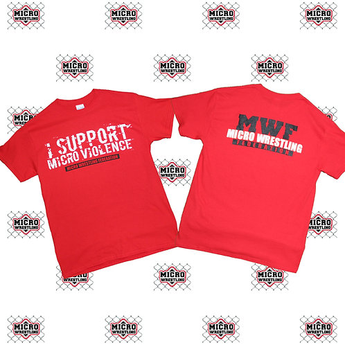Micro Wrestling Red T-Shirt