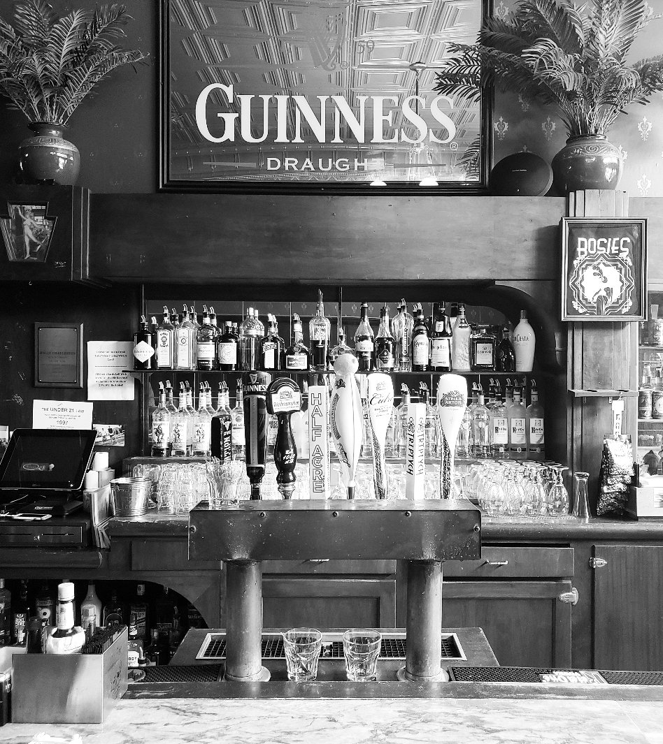 Section of the back bar