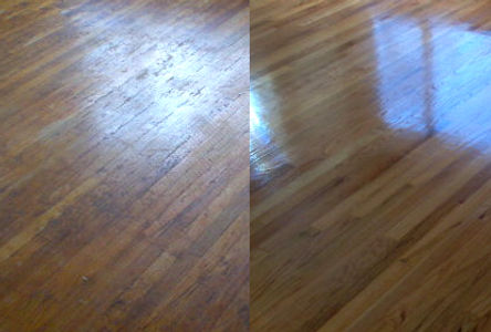Before & After Sanded Floor