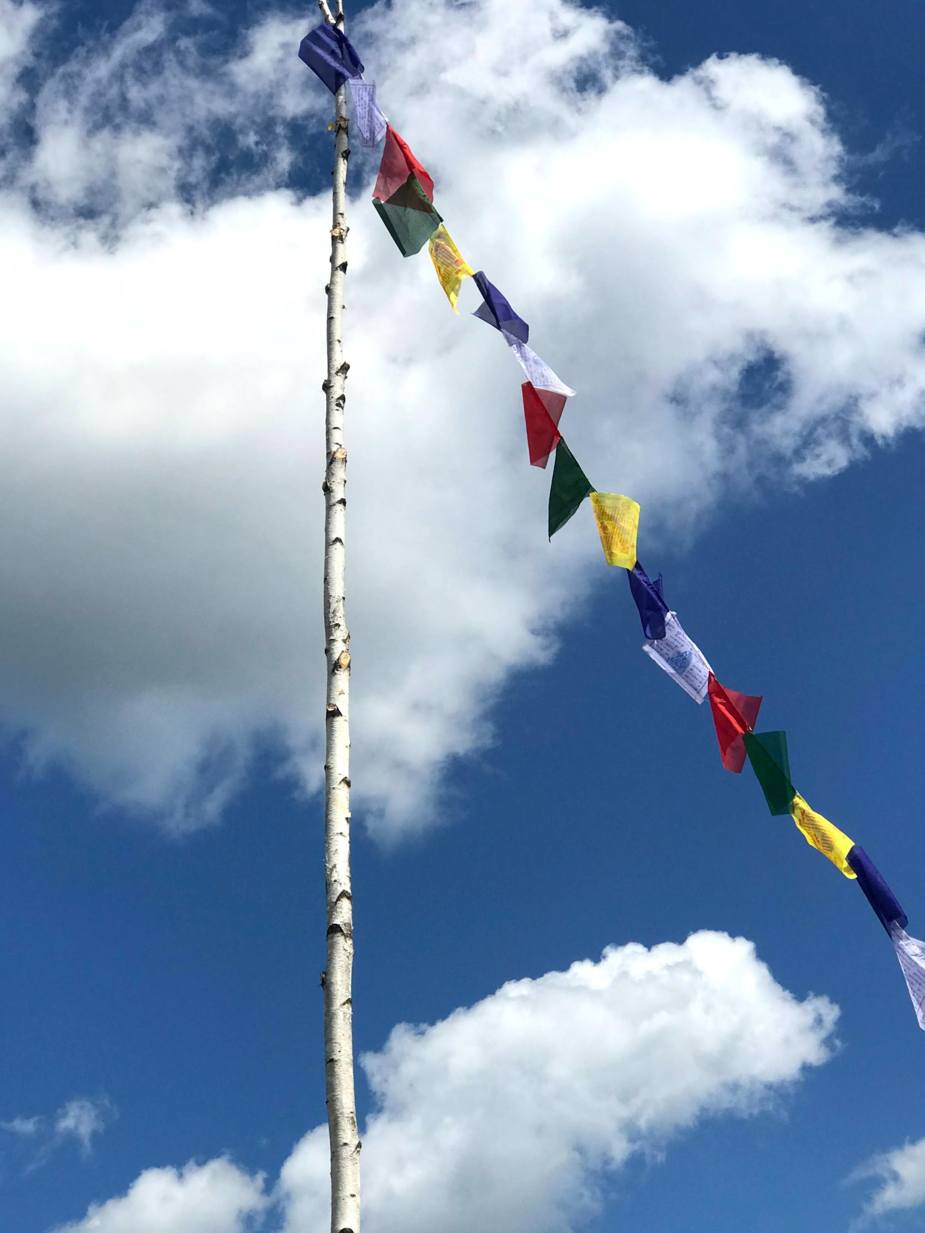prayer flags at the labyrinth