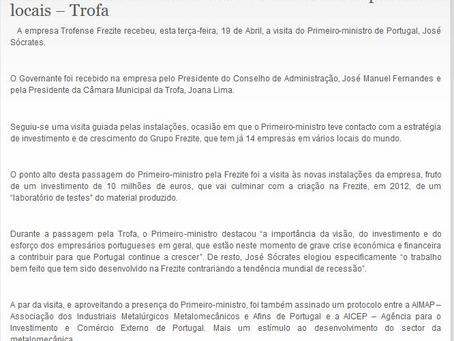 Primeiro-ministro visitou Frezite e incentivou empresários locais-Trofa