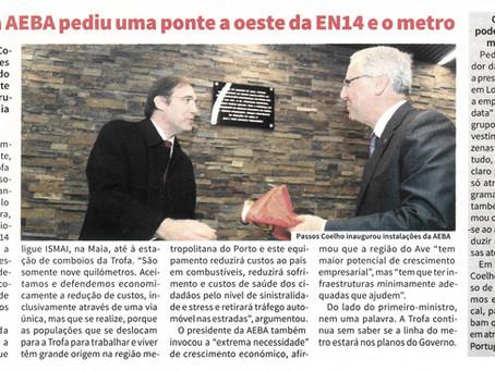 Presidente da AEBA pediu uma ponte a oeste da EN14 e o metro