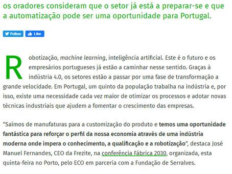 """Robotização e inteligência artificial: industriais """"preparados"""" para o futuro"""