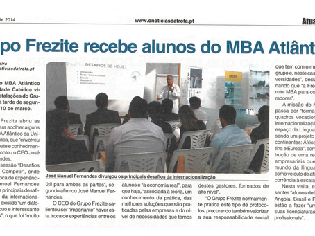 Grupo Frezite recebe alunos do MBA Atlântico