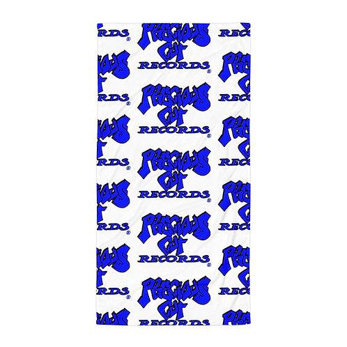 Blue Precious Cut Records Towel