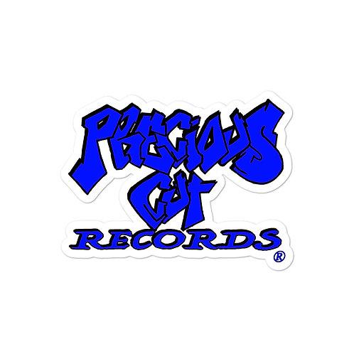 Blue Precious Cut Records stickers