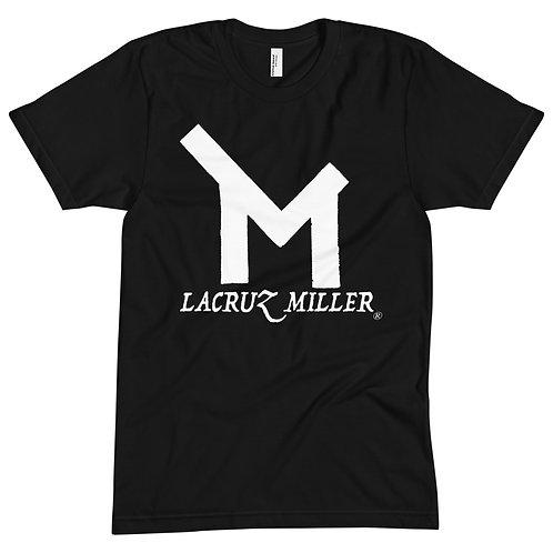 LaCruz Miller White Logo Crew Neck Tee