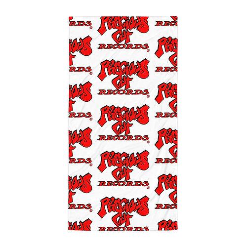 Red Precious Cut Records Towel