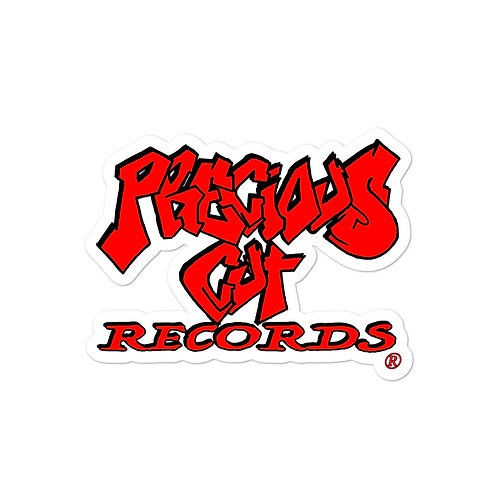 Red Precious Cut Records stickers