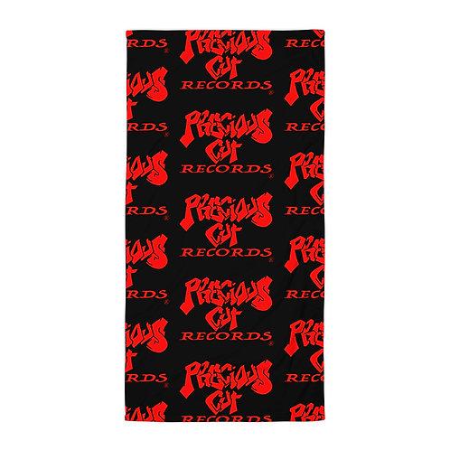Black/Red Precious Cut Records Towel