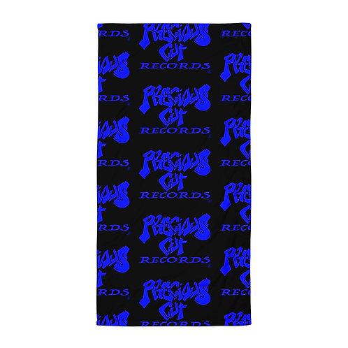 Black/Blue Precious Cut Records Towel