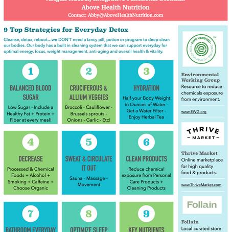 9 Strategies for Everyday Detox