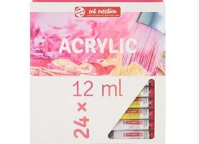 סט צבעי אקריליק טלנס 12 מל 24 יח