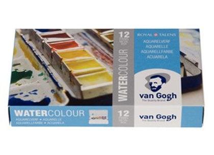 צבעי מים ואן גוך קוביות +מכחול טאלנס