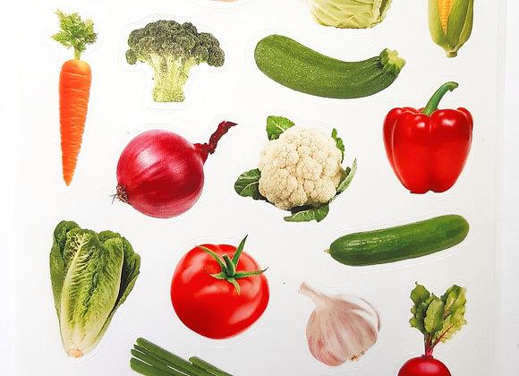מדבקות ליצירה ירקות