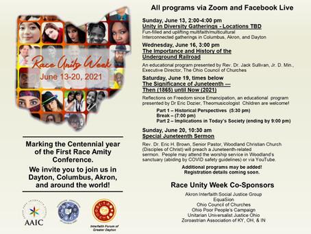 Race Unity Week - June 13-20