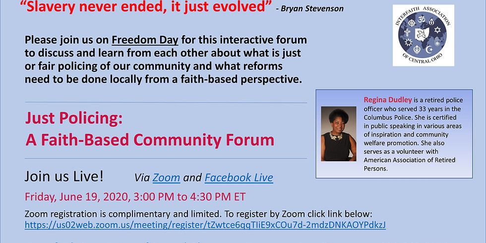 Just Policing: A Faith-Based Community Forum
