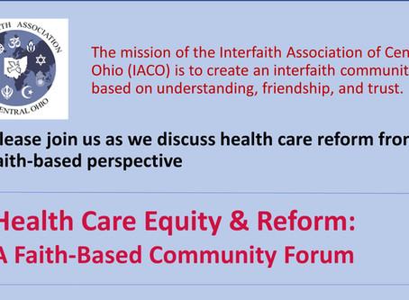 July 1 - Health Care Equity & Reform: A Faith-Based Community Form