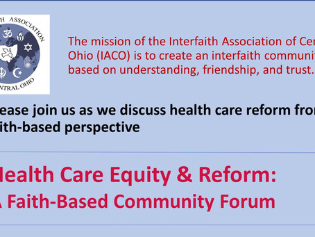 July 1 - Health Care Equity & Reform: A Faith-Based Community Form