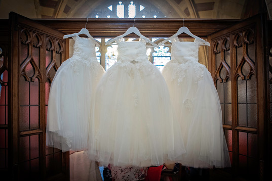 Bridesmaid dresses waiting!