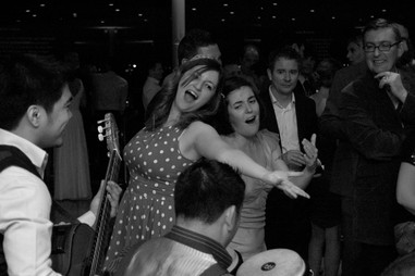 Fun at the reception