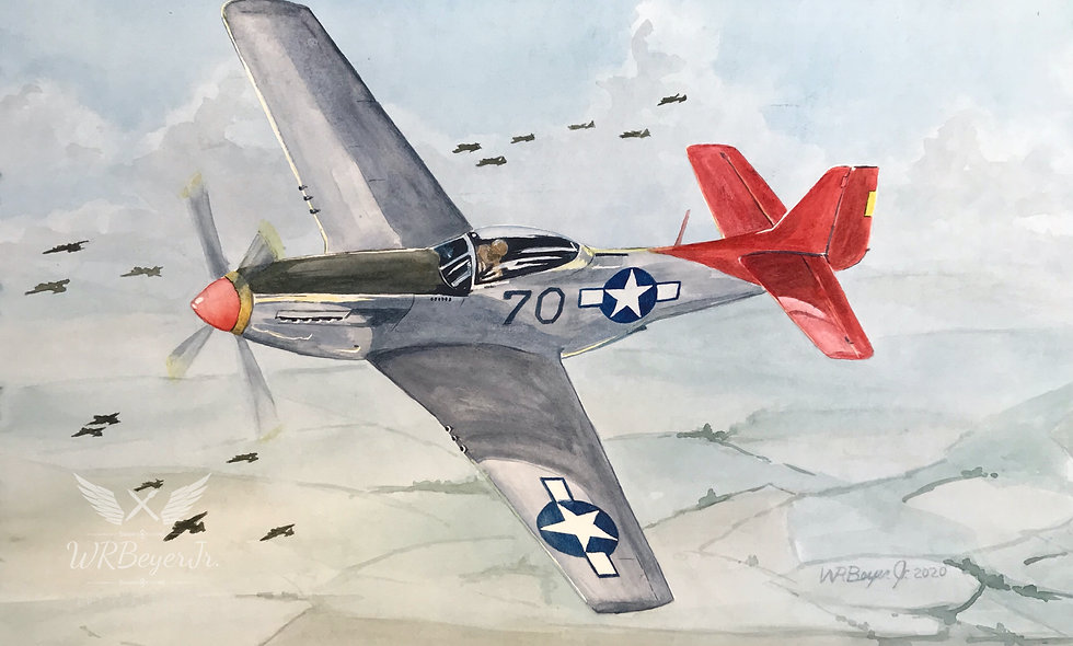 P-51 Mustang Red Tail (escort)