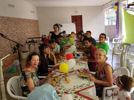 Almoço e alegria em Mogi