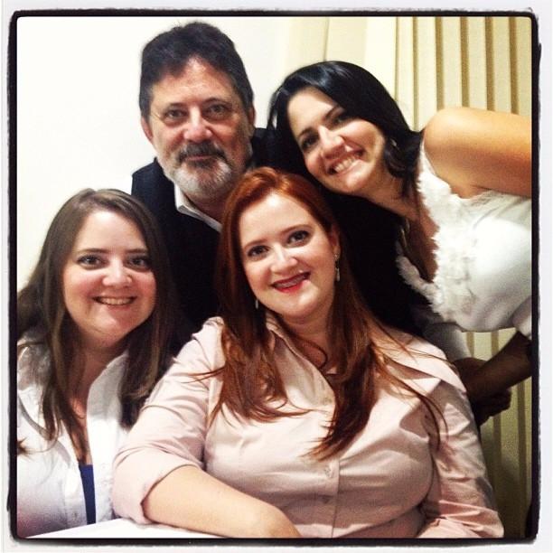 Pastor Marcio Arbex e filhas