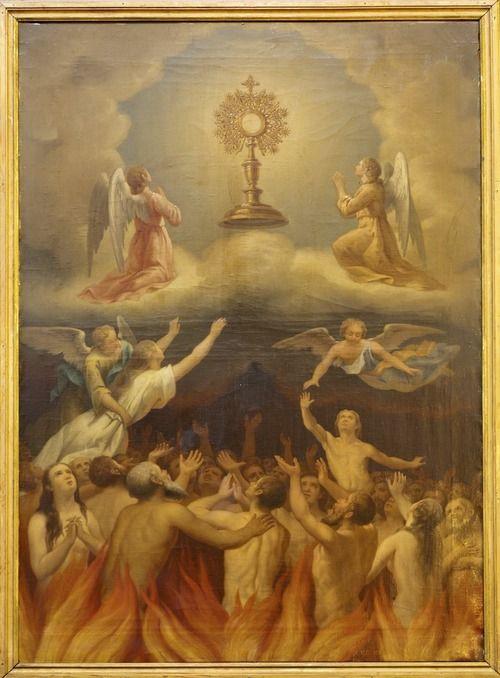 Ilustração do purgatório
