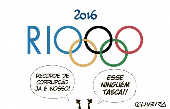 Charge sobre as olimpíadas Rio
