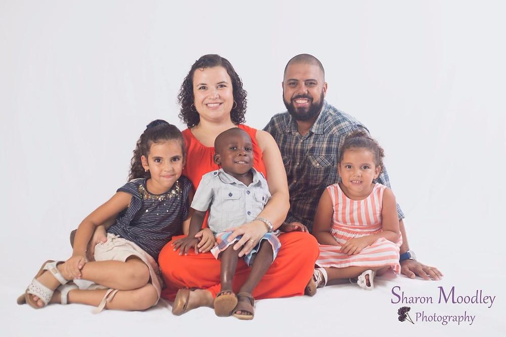 Bibiana, Juninho e filhos