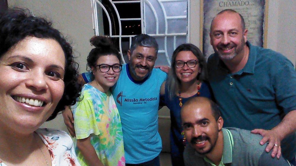 Visita na casa da Pastora Claudia