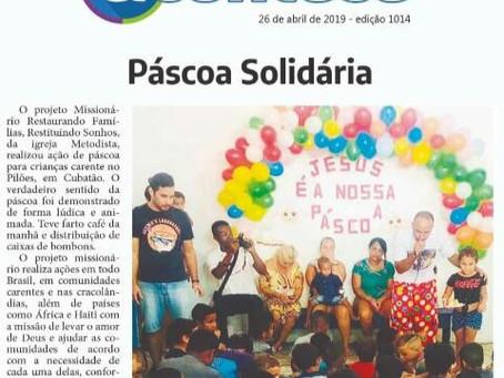 Igrejas Metodista em Cubatão realizam Páscoa Solidária