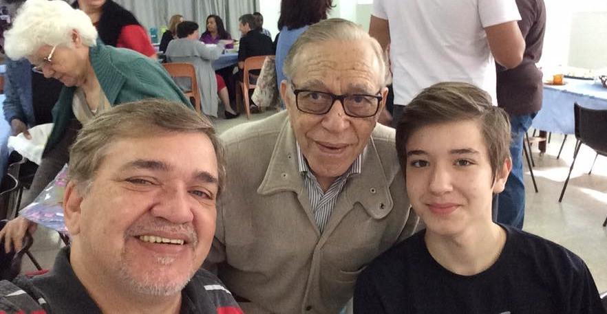 Paulo Roberto (filho), Roberto Machado (pai) e Junior (neto)