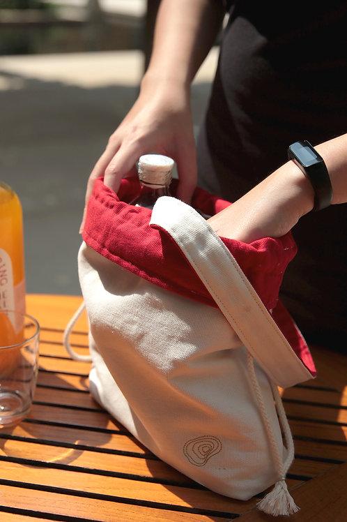 Bottle & Wine Tote Bag