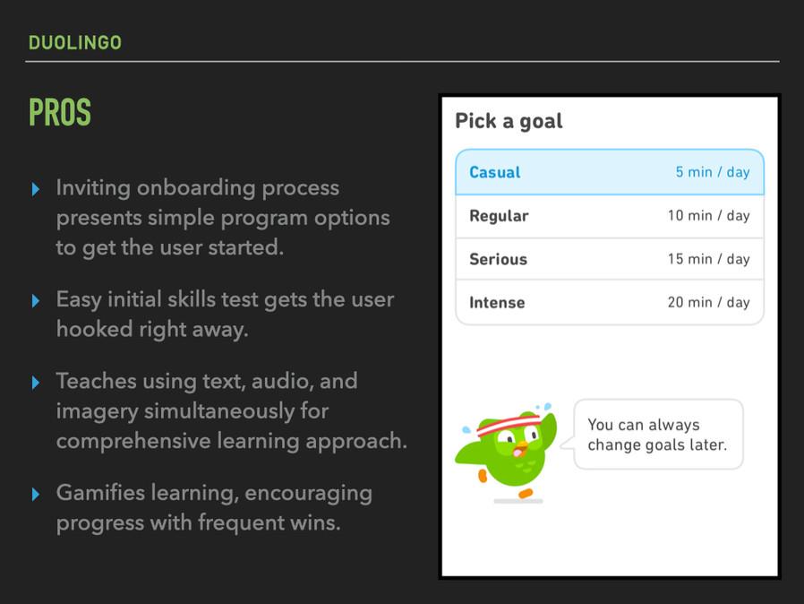 Duolingo: pros