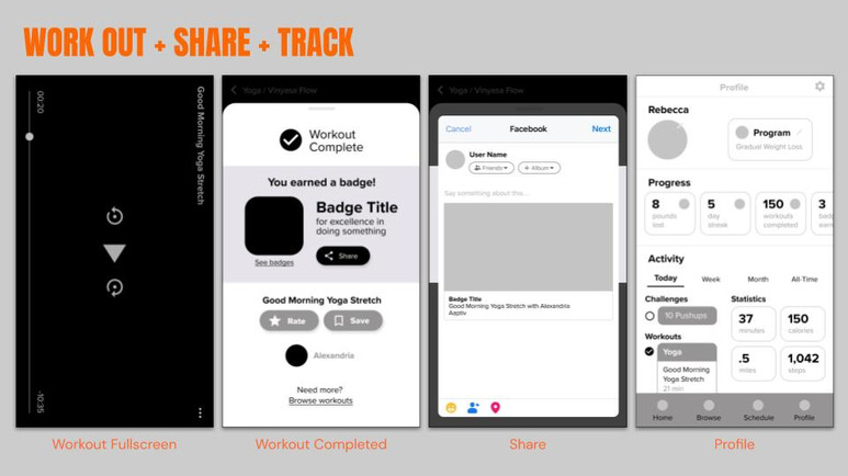 Work out, Share, Track