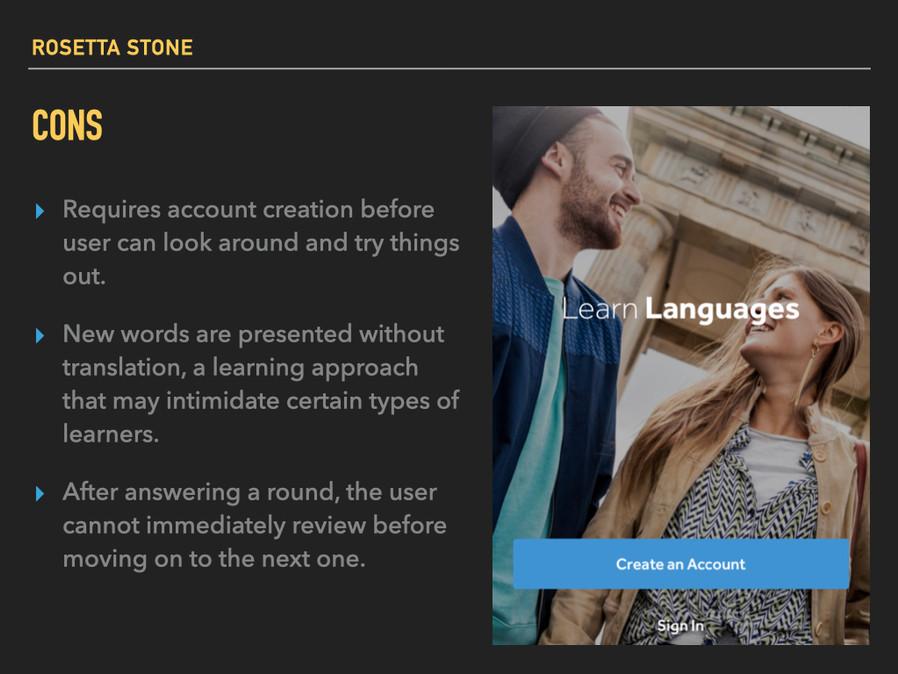 Rosetta Stone: cons