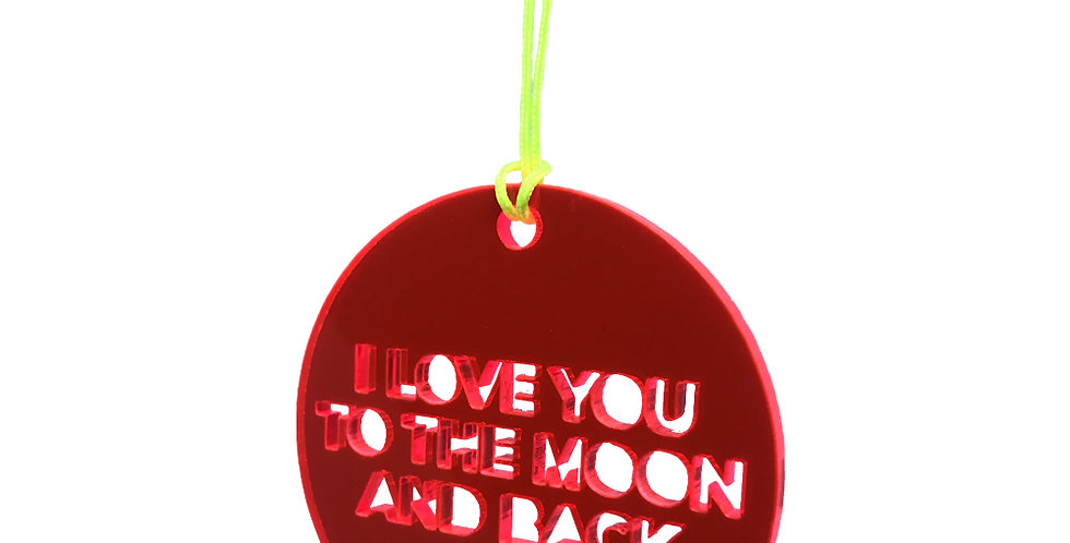 I love you to the moon ... ophæng- UDSOLGT!