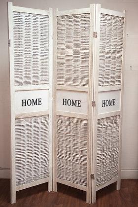 Paravent bois et osier HOME
